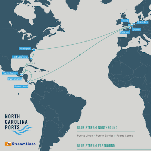 Streamlines Blue Stream - Latin America Europe Container Service